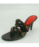 Céline Womens Thong Sandals Brown Leather Size 39B - $227.69