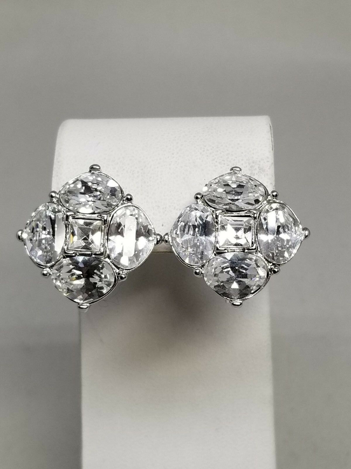 Elegant Monet Unique Rhinestone Square Shaped Earrings