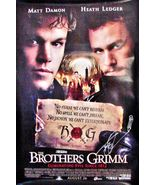 2005 THE BROTHERS GRIMM Movie POSTER 27x40 SIGNED TERRY GILLIAM Double S... - $69.99