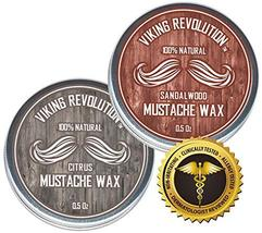 Mustache Wax 2 Pack - Beard & Moustache Wax for Men - Strong Hold Helps Train Ta image 6