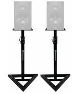 2 Rockville Adjustable Studio Monitor Speaker Stands For ADAM Audio S2V ... - $99.99