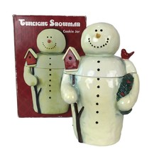 "Twilight Snowman Cookie Jar Christmas 13"" Ceramic Mary Beth Baxter - $26.72"