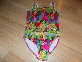 Size Small Future Star Capezio Dance Gymnastics Leotard Multi Color Hearts Green - $16.00