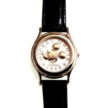 Mickey Mouse Co. Silver Coin, Fossil Man's Watch LI-1617 Number XXXX of ... - $97.86