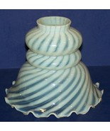 BEAUTIFUL VINTAGE FENTON ART GLASS SPIRAL OPTIC FRENCH OPALESCENT LAMP S... - $54.69