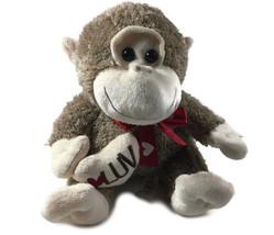 Dan Dee Brown Tan MONKEY Plush Toy 12 Inches Tall Stuffed Animal Lovey - $24.52