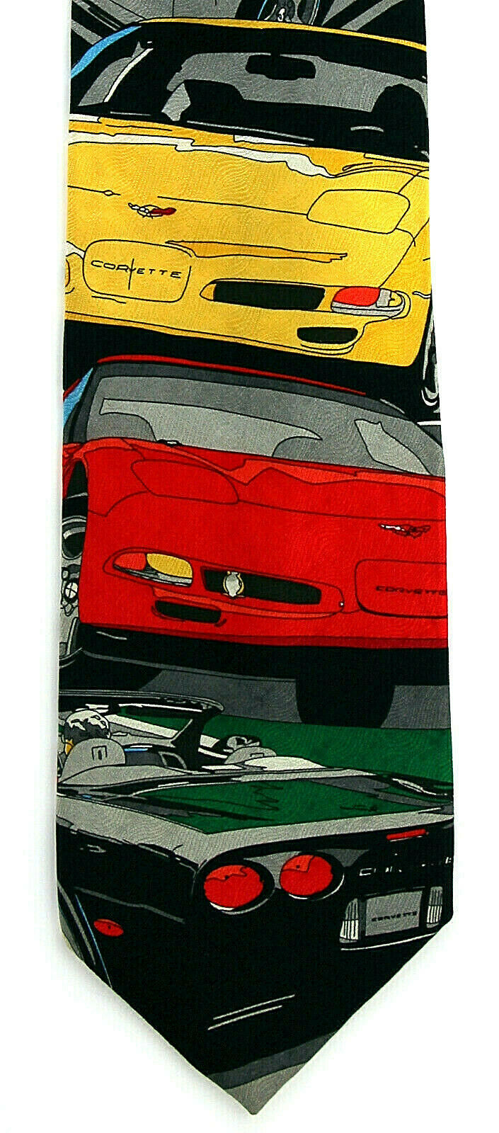 Corvette C5 Men's Neck Tie Ralph Marlin Licensed Chevrolet Car Silk Neck Tie