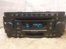 05-09 Chrysler Dodge RAK Radio 6 Disc Cd Mp3 Cassette Player P05091523AL... - $51.98