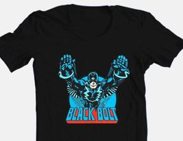 Black Bolt T-shirt comic book retro Superhero 100% black cotton graphic tee image 2