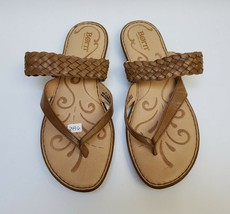 Born Womens Shoes Sandals Thong Weave Strap Natural Leather Size US 9 EU... - $34.60
