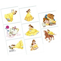 Beauty and the Beast Disney Princess Birthday Party Favor Temporary Tattoos - $7.17