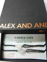 Alex And Ani Kindred Cord Elephants Set Of 2 Bracelets Sterling Silver Nwtbc - $42.56