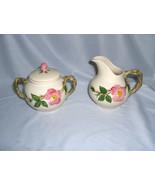 3 Pc Vintage Sugar & Creamer Franciscan China Stoneware Desert Rose USA ... - $44.55