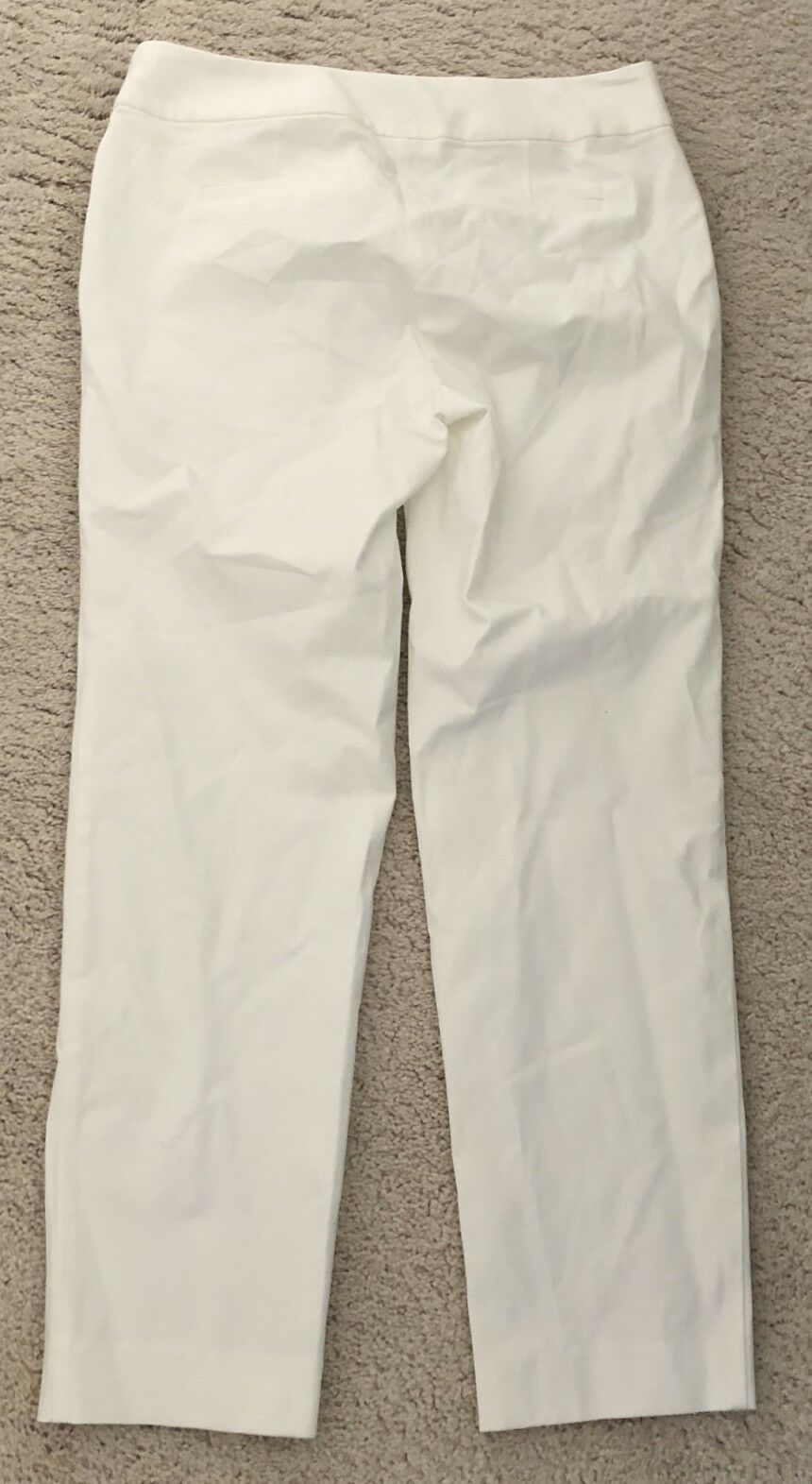 NWT Charter Club Off-White Classic Fit Trouser Dress Pants Cotton Stretch 6