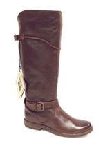 New FRYE Company Size 6 PHILLIP Brown Leather Riding Boots Extended Calf... - $159.00