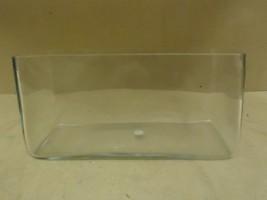 Designer Flower Pot 15in W x 7 1/2in H x 7in D Clear Modern Rectangle Glass - $39.23