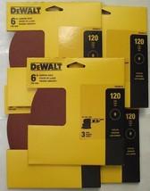 """Dewalt DWAS60123 6"""" x 120 Grit Stick-on Sanding Discs 5 - 3 Packs - $4.95"""