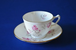 Crown Staffordshire/Royal Victoria Tea Cup & Saucer Pink Roses - $9.90