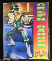 Vtg 1994 Mighty Morphin Power Rangers Framed Poster Tommy Green Ranger 1... - $49.99