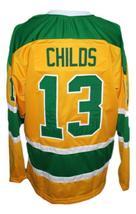 Custom Name # Salt Lake Golden Eagles Retro Hockey Jersey New Yellow Any Size image 5