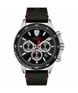 Brand New Ferrari Pilota Mens 0830389 Model Chronograph Black Leather Ba... - $129.95