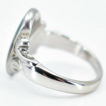 Oval & Ribbon Shaped Multi-Color Changing Contrasting Silver Painted Mood Ring image 2