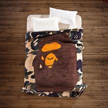 Camo Ape Bape Shark Blanket Soft Cover Bed Cover Sofa Blankets 130cmx150cm - $54.99