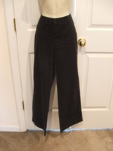 NWT LONDON JEANS  BLACK 100% COTTON  WIDE LEG jeans SIZE 8 - $18.80