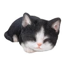 "Animal Collection Sleeping Black and White Kitten Figurine Statue 7 7/8""... - $24.74"