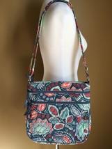 "NWT Vera Bradley "" Nomadic Floral "" Triple zip Crossbody Handbag - $39.99"