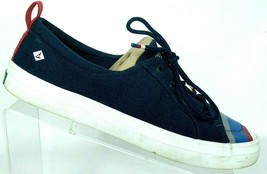Sperry Top Sider Womens Crest Vibe Navy Blue Canvas Sneaker Shoes Size 9 M - $58.83 CAD