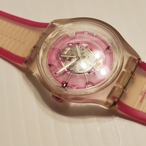 Swatch 613 Pink Analog Pink Dial Transparent Watch - $45.00