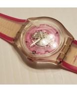 Swatch 613 Pink Analog Pink Dial Transparent Watch - $45.00