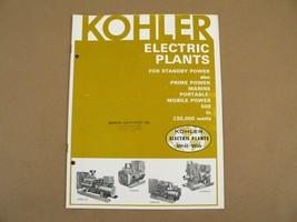 Kohler Standby/Prime/Marine/Portable Mobile Power 500-230,000 Watts Brch... - $25.00