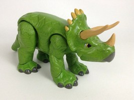 "Fisher Price Imaginext 2011 Dinosaurs Green 9"" Triceratops Dino Toy Figure - $15.79"