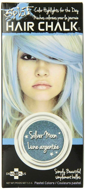 NEW Splat Hair Chalk Pastel Color Highlights Silver Moon Temporary 3.5 Grams