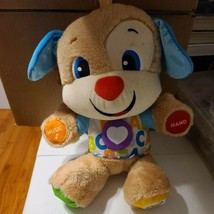 """Fisher Price Laugh & Learn Stuffed Puppy Dog Plush Toy Musical """"ABC"""" Tested - $12.11"""