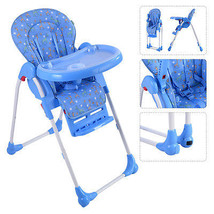 Adjustable Baby High Chair Infant Toddler Feeding Booster Seat Folding Blue - $67.90