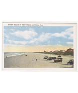 Cars on Beach Daytona Florida 1920c postcard - $6.00
