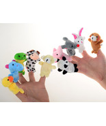 10PCS Zoo Animal Finger Toys Boys Girls Children's Party - $7.99