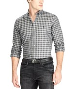 NEW POLO RALPH LAUREN GRAY BLACK PLAID LUXURY TWILL BUTTON DOWN SHIRT SZ S - $37.12