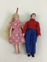 """Horsman Doll House Family Mom Dad Mother Father Playing For Keeps 6"""" Man Woman - $16.88"""