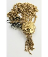 "26"" ESTATE VINTAGE Jewelry MV VELLANO LION DOOR KNOCKER CHAIN TASSEL NEC... - $200.00"