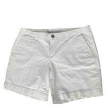 Old Navy Womens Low Rise Bermuda Shorts Size 12 Solid White Pockets - $25.74