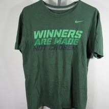 Nike T-Shirt Größe M M Grün Gewinner Made Not Ausgewählt D16 - $27.99