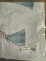 Pottery Barn Disney Organic Frozen One Standard Pillowcase Light Blue 100%Cotton - $18.95
