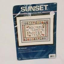 The Alphabet Sunset Cross Stitch Kit 1997 New Debbie Mumm Country Holida... - $28.89