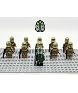 11Pcs/set Star Wars Battle Kashyyyk Commander Gree Clones Trooper Minifi... - $21.99