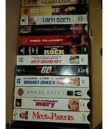 VHS Assortment A Gladiator, Bridget Jones, Legends of the Fall, The Rock... - $3.00