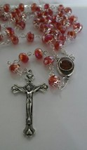 Rosary with soil from Jerusalem red/Rosario con Tierra Santa de Jerusal... - $12.00